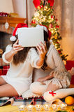 Holiday happy girls Royalty Free Stock Images