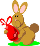 Holiday hare gift egg 02 Royalty Free Stock Photos