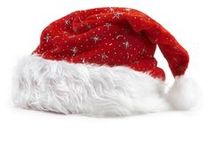 Holiday hat. Great for your design and art work,place your text here Royalty Free Stock Photo