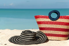 Holiday hat and bag Stock Photos