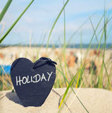 Holiday heart at the beach Royalty Free Stock Photography
