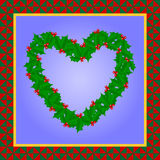 Holiday Heart Quilt Stock Photography