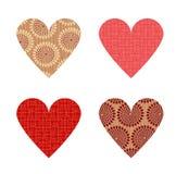 Holiday hearts Stock Photography