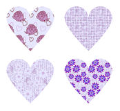 Holiday hearts Stock Images