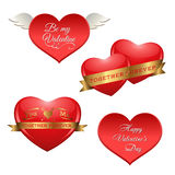 Holiday hearts Stock Photo