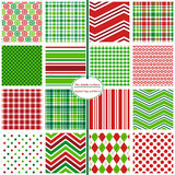 Christmas and Holiday Background Patterns - Holiday Hodgepodge Stock Photo