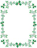 Holiday Holly Frame Royalty Free Stock Photo