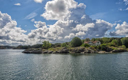 Holiday home in the archipelago  near Lysekil, Sweden Stock Images