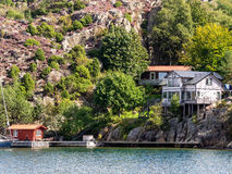 Holiday home in the archipelago  near Lysekil, Sweden Royalty Free Stock Images