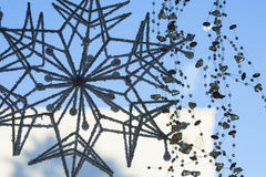 Holiday home decoration snowflake Stock Images