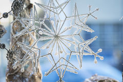 Holiday home decoration snowflake Royalty Free Stock Image