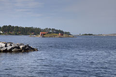 Holiday Home on a Small Island Stock Photography