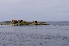 Holiday Home on a Small Island Stock Photo
