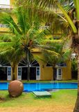 Holiday home on the tropical coast stock photo
