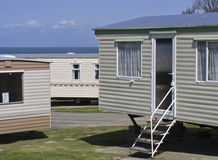 Holiday homes. Mobile homes by the sea Stock Image