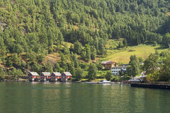 Holiday Homes at the Mountain Stock Images