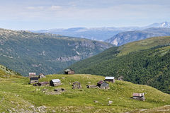 Holiday Homes at the Mountain Royalty Free Stock Image