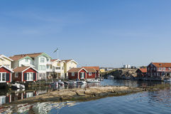 Holiday homes Swedish west coast Stock Photography