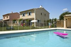 Holiday homes swimming pool south of france Stock Photo