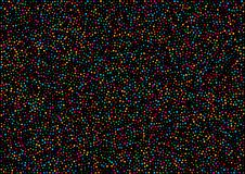 Holiday horizontal black background with colorful rainbow colors confetti paper pattern texture. Bright new year 2018 background. A4 paper size, vector Royalty Free Stock Images