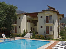 Holiday Hotel. A typoical small tourist hotel in Turkey Stock Photography