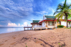 Holiday house on the beach of Thailand. Oriental architecture holiday house on the beach of Thailand Royalty Free Stock Photography