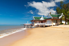 Holiday house on the beach Stock Image