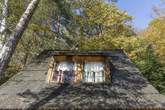 Holiday house in forest Stock Photos