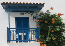 Holiday house in mediterranean color style Royalty Free Stock Photo