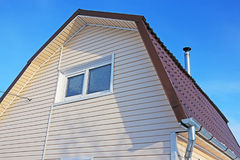 The holiday house is sheathed with plastic siding Royalty Free Stock Photography
