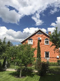 Holiday House in summer. On a sunny day Stock Photo