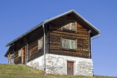 Holiday house in Val Medel Royalty Free Stock Photo