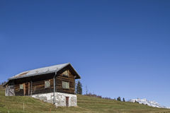 Holiday house in Val Medel Stock Photos