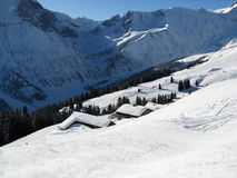 Holiday houses in alps Royalty Free Stock Photography