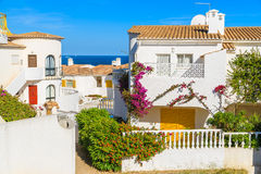 Holiday houses in Luz town Royalty Free Stock Photo