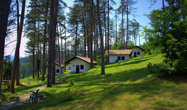 Holiday houses in the mountains Royalty Free Stock Photography