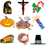 Holiday icon set 1 Stock Photos