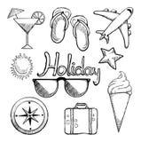 Holiday icon set Royalty Free Stock Photos