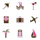 Holiday icon set vector Stock Photography