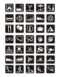 Holiday icons. Holiday leisure. Service and entertainment icons set Royalty Free Stock Image