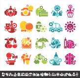 Holiday icons Stock Photo