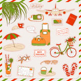 Holiday icons Royalty Free Stock Photo