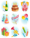 Holiday icons. Vector illustration - holiday icon set Stock Image