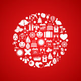 Holiday icons in circle Stock Image