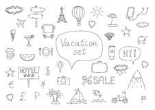 Holiday icons doodles Stock Photos