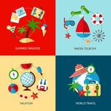 Holiday icons flat set Stock Photo