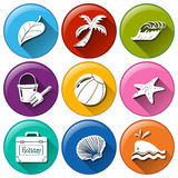 Holiday icons Royalty Free Stock Images