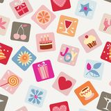 Holiday icons seamless background Royalty Free Stock Photos