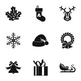 Holiday icons set, simple style Royalty Free Stock Image