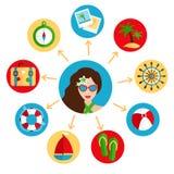 Holiday icons set Royalty Free Stock Image